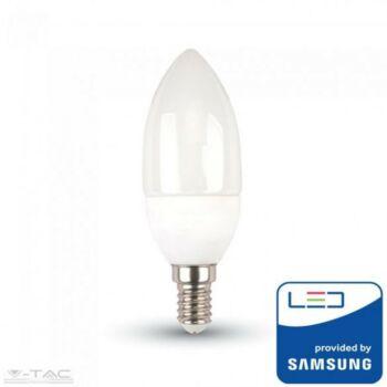 7W LED izzó Samsung chip E14 Gyertya 3000K - PRO111